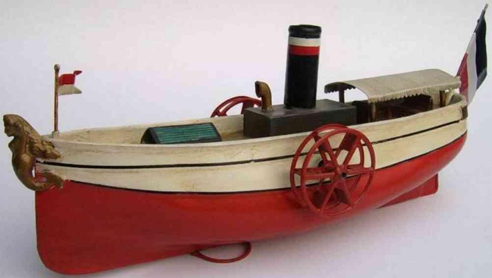uebelacker blech spielzeug schiff raddampfer