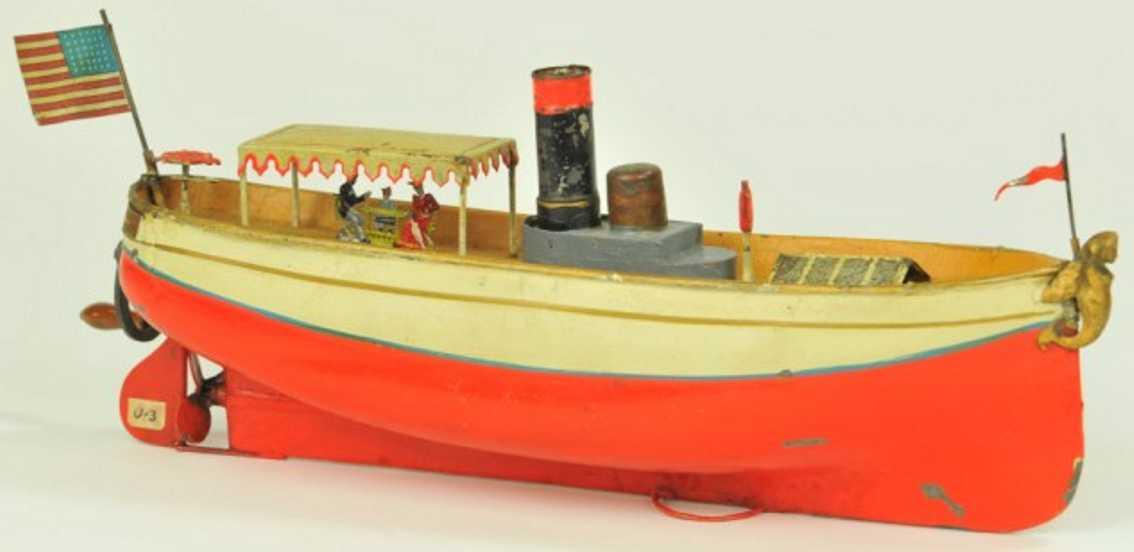 uebelacker blech spielzeug schiff flussboot