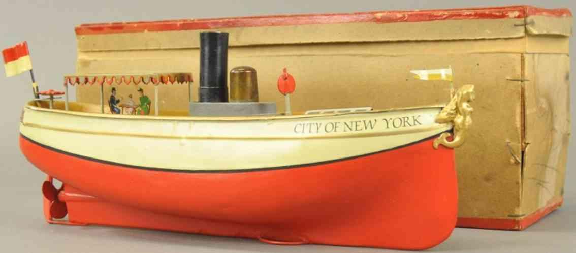 uebelacker blech spielzeug city of new york flussboot