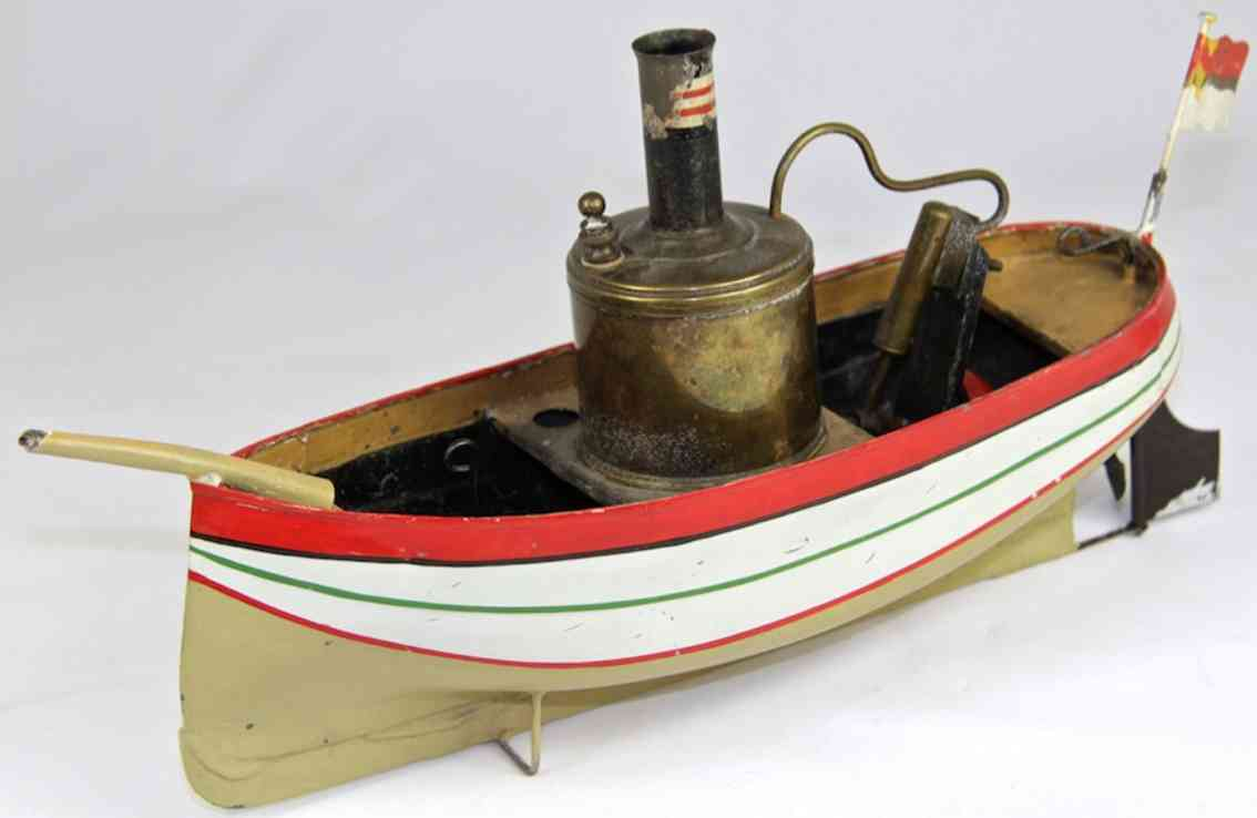 tin toy ship tin ship with steam engine