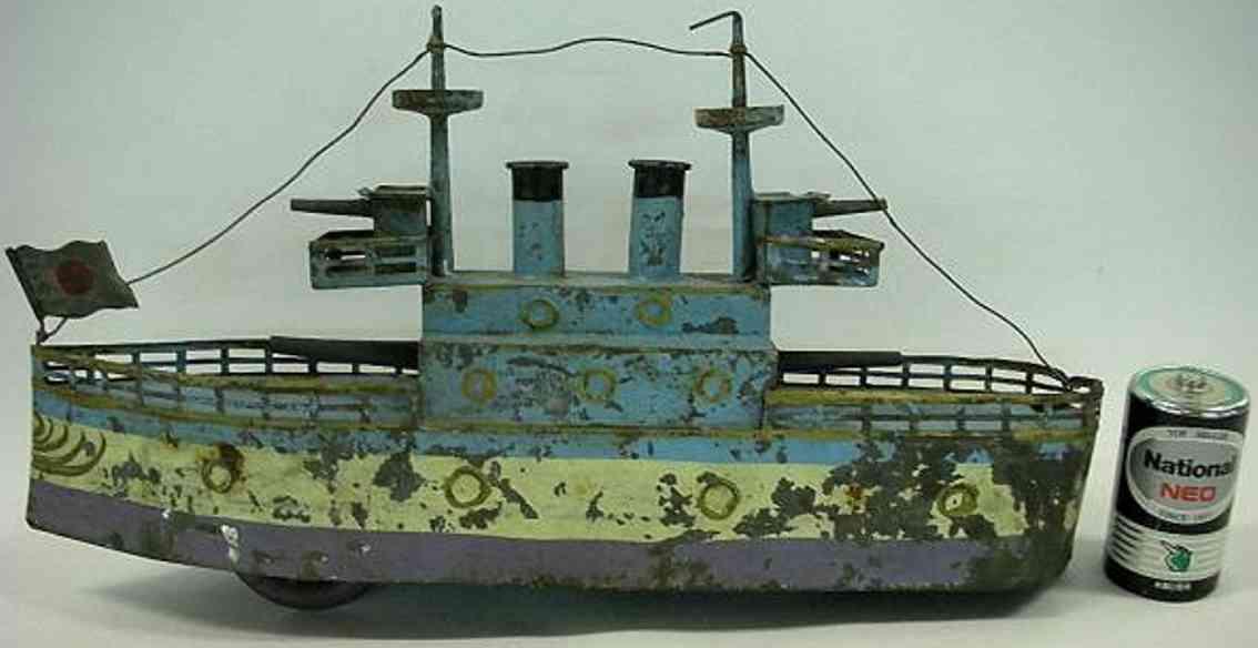 blech spielzeug schiff kaiserliches marinekriegsschiff