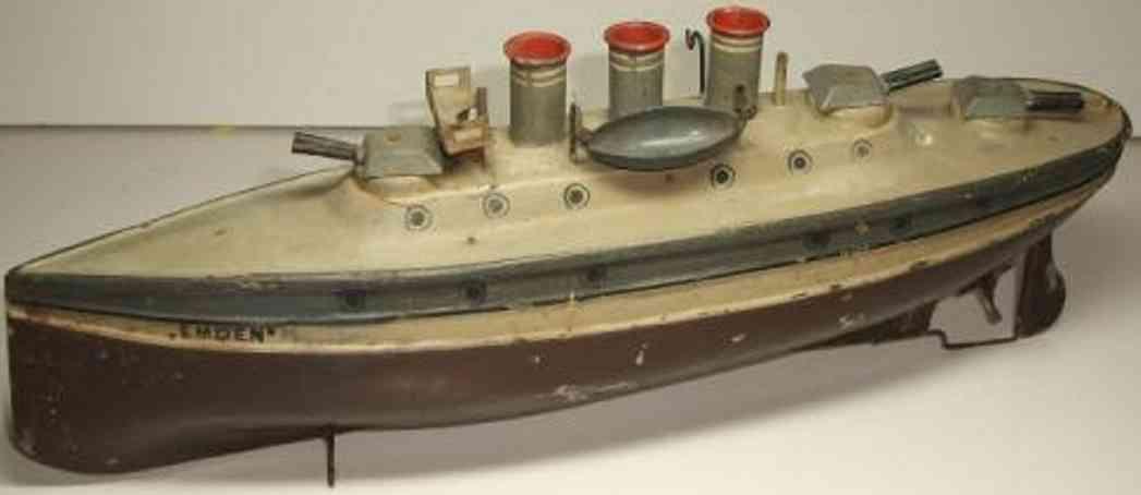 tin toy ship torpedo boat emden