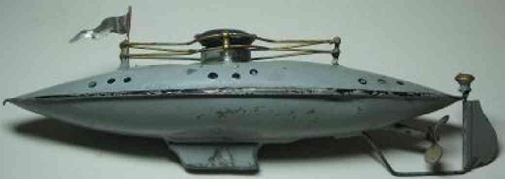 spielzeug schiff u-boot mit uhrwerk fleischann carette