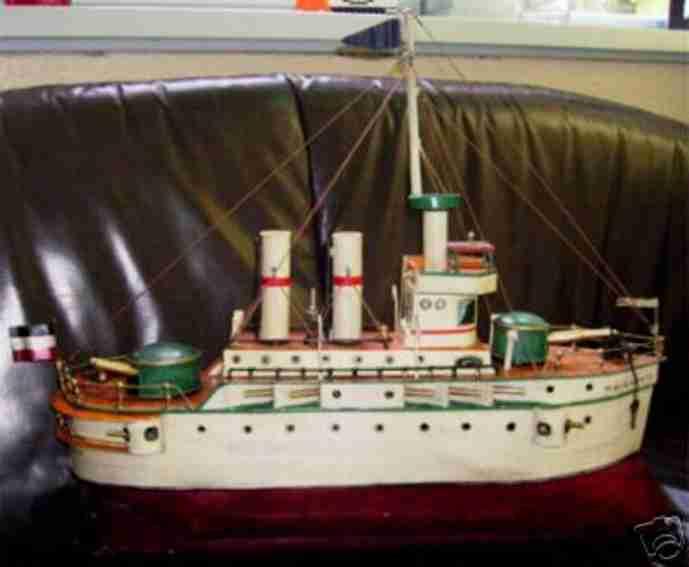 Dampfschiff mit Wasserkessel
