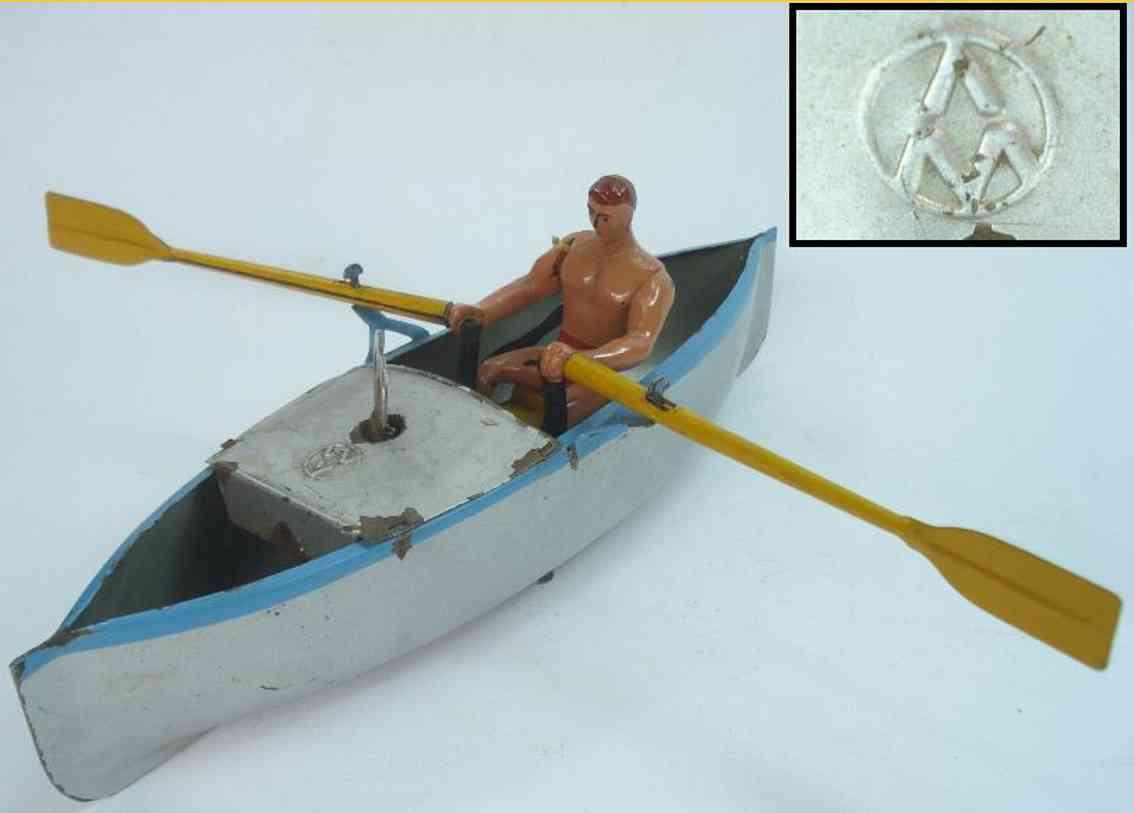 blech spielzeug schiff ruderboot udssr