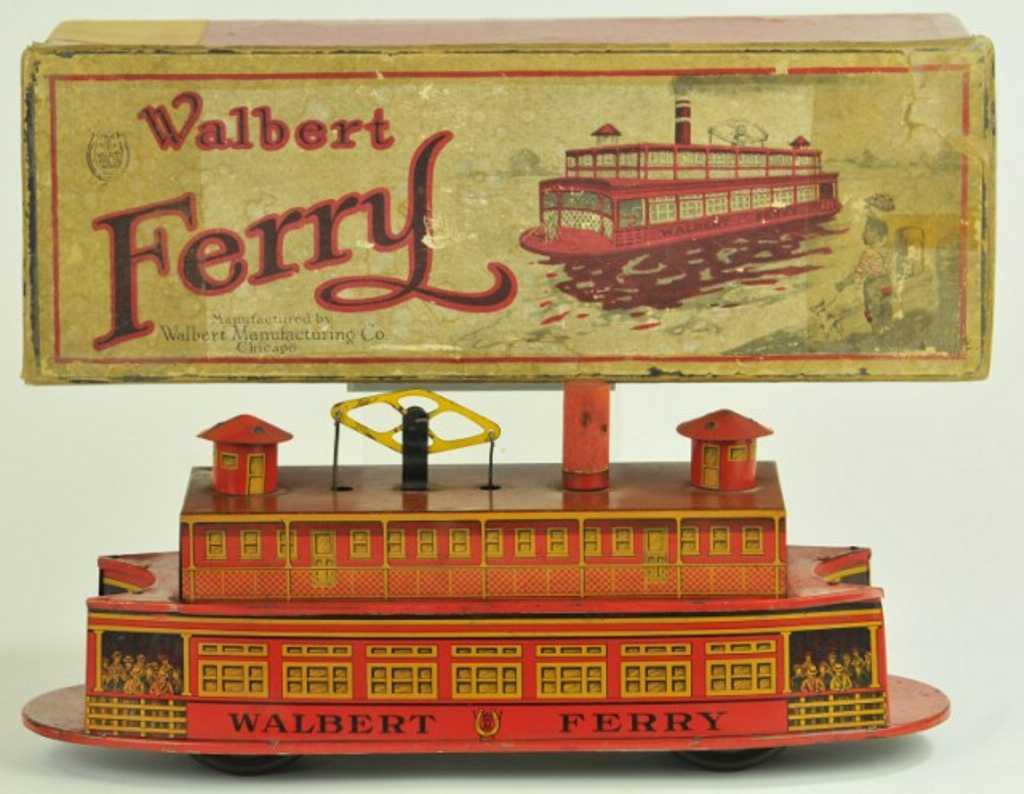 Walbert Mfg. Co. Fähre mit Uhrwerkantrieb als Bodenläufer