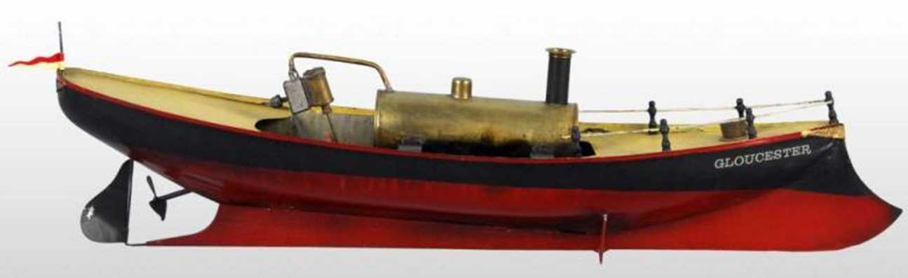 weeden blech spielzeug gloucester dampfschiffboot