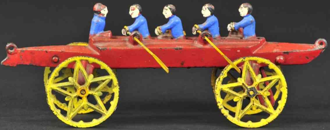 wilkens spielzeug gusseisen vierer mit steuermann rot gelb blau