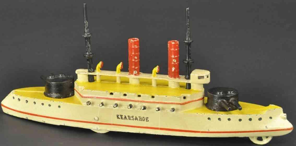 wilkins kearsage spielzeug gusseisen kriegsschiff