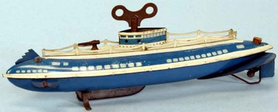 wolverine blech spielzeug schiff u-boot uhrwerk