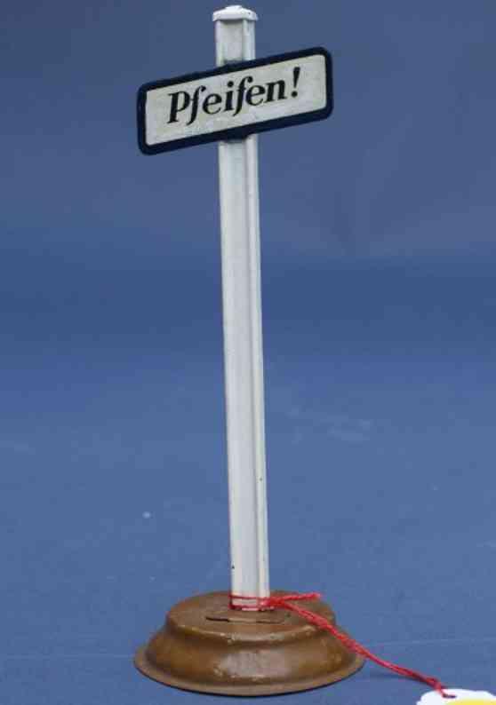 karl bub 144 spielzeug eisenbahn hinweisschild pfeifen