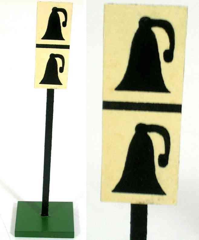 heidt klaus spielzeug eisenbahn schild zwei glocken aus holz
