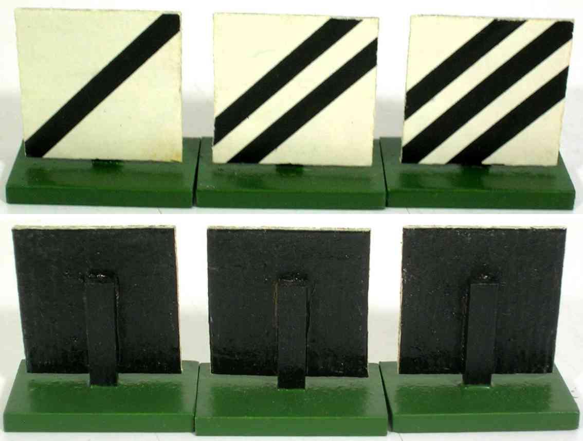 heidt klaus spielzeug eisenbahn signalbaken set holz drei schilder