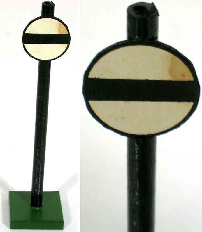 heidt klaus railway toy wooden sign round shield horizontal black stripe
