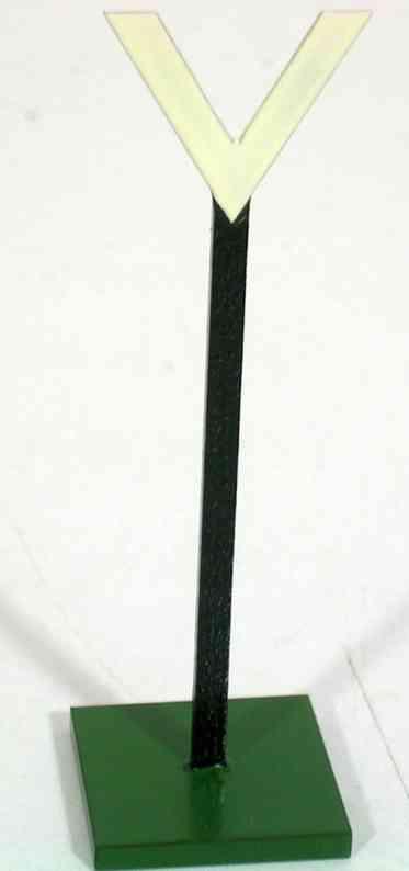 heidt klaus spielzeug eisenbahn schild in v-form aus holz