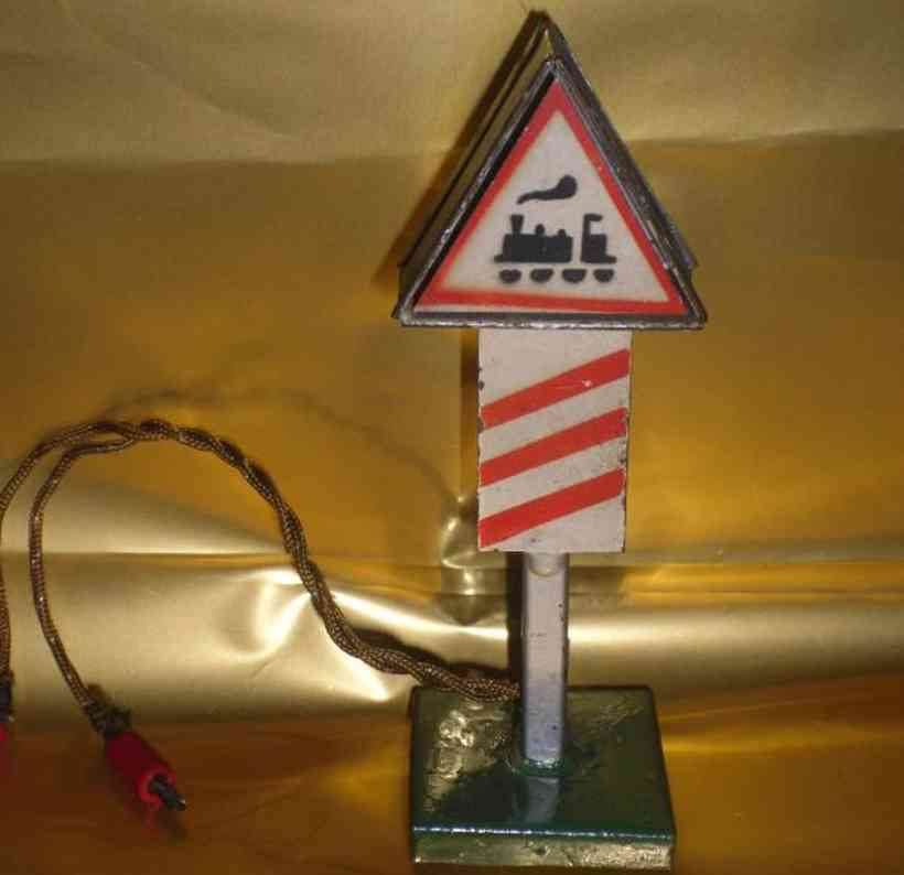 kibri 74/4 railway toy sign traffic sign for a level crossing, illuminated