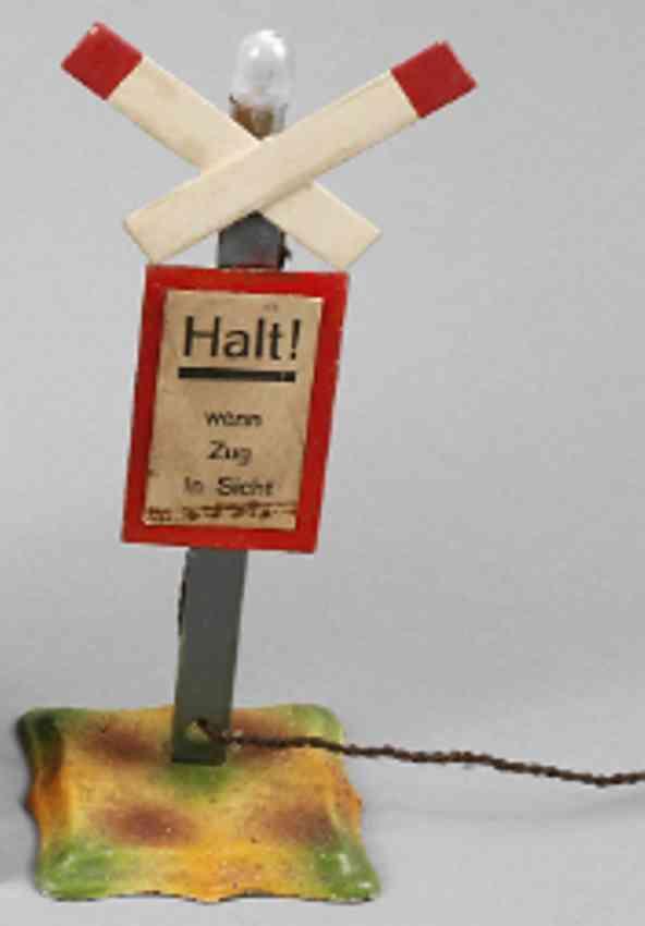 kibri 75/9 b railway toy warning sign hold halt lamp