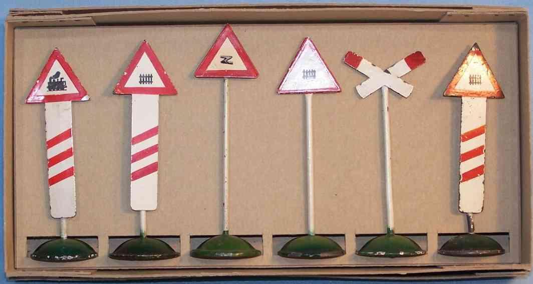maerklin 2363-2356 spielzeug eisenbahn satz eisenbahnschilder -signale