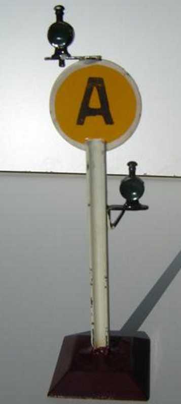 bing 10/6106 spielzeug eisenbahn streckensignal auf sockel e a