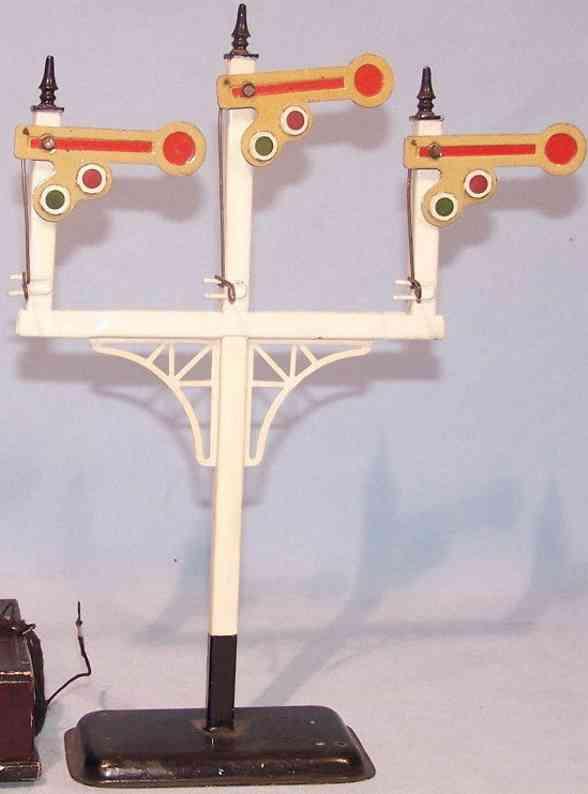 bing 10/6121/3 spielzeug eisenbahn etagensignal drei hauptsignale