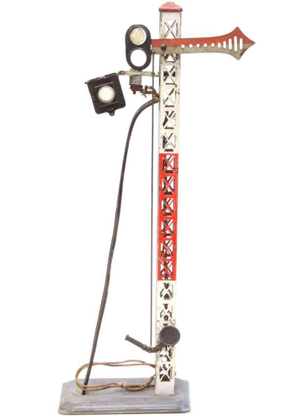 bing 10447 railway toy semaphore with one wing lattice mast
