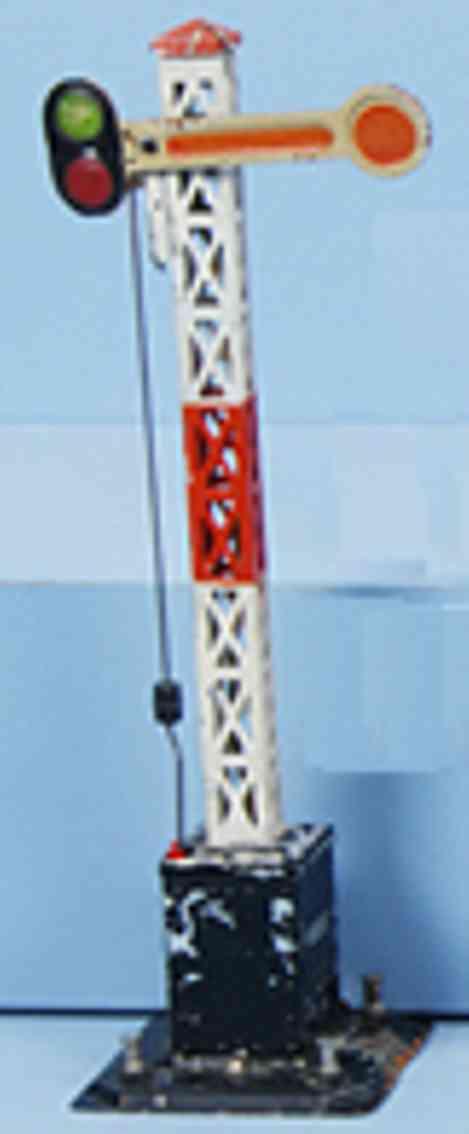 bing 12/6110 spielzeug eisenbahn einfluegeliges form-hauptsignal  spur 0