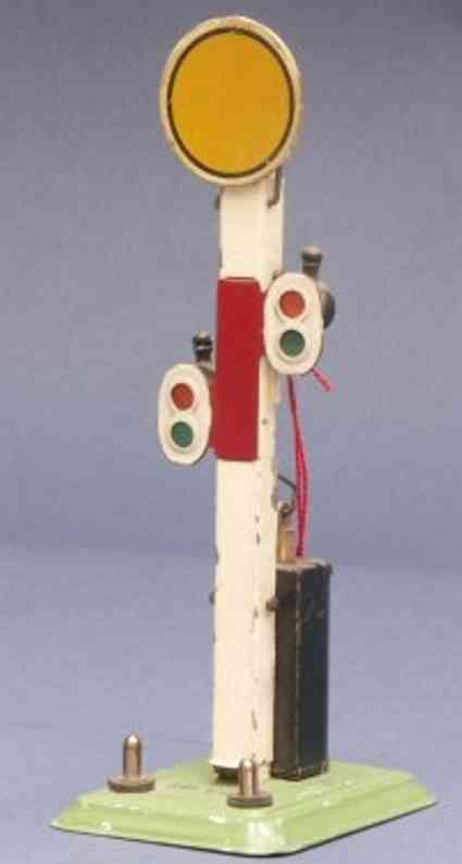 bing 12/6141 spielzeug eisenbahn 18 volt scheiben vorsignal elektrisch