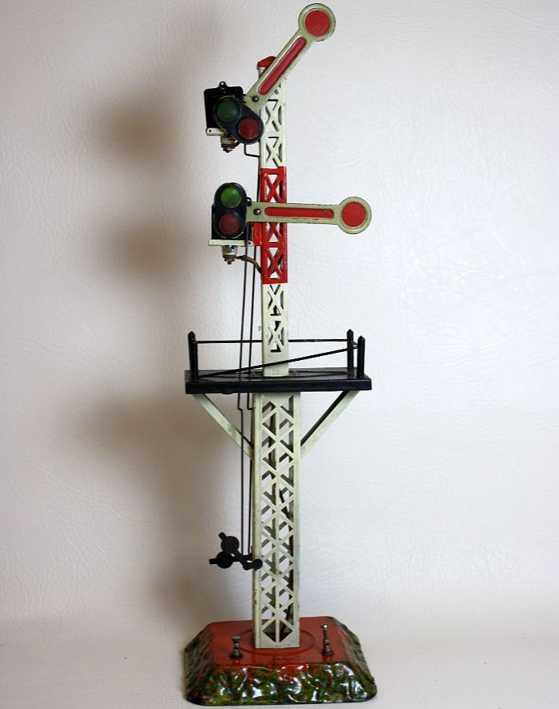 bing spielzeug eisenbahn etagensignal vierecksockel gittermast absatz