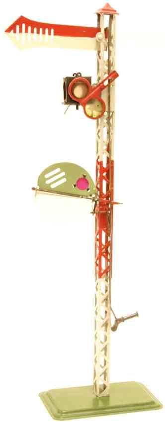 karl bub 635/1 railway toy main signal butterfly pre-signal oil light