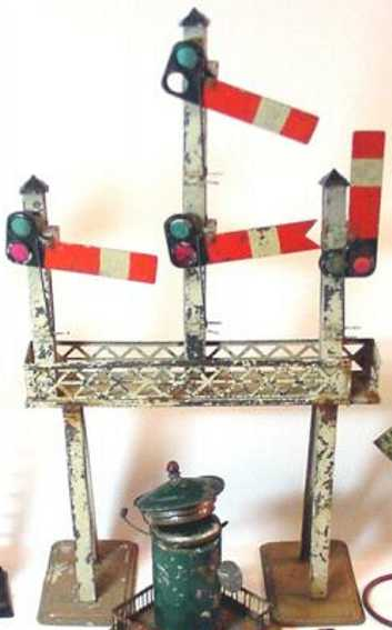 carette railway toy signal bridge