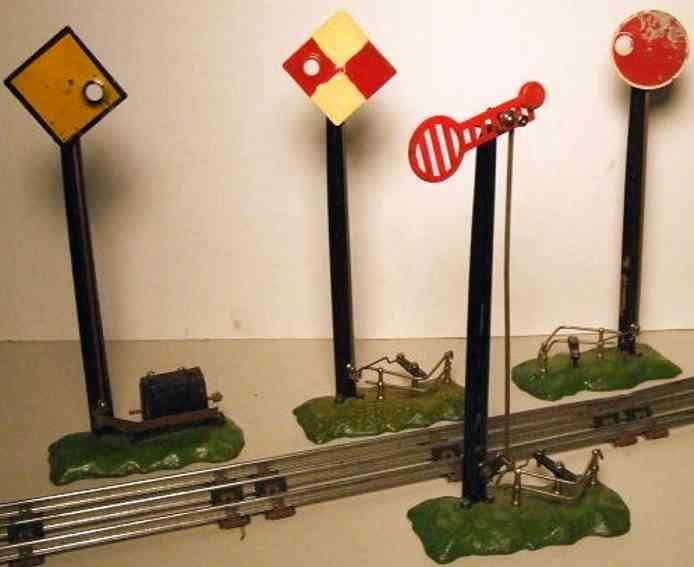 edobaud spielzeug eisenbahn signal elektrische signale mit masten und signale aus blech und guß