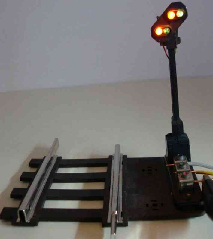 fleischmann 572 railway toy light advance signal
