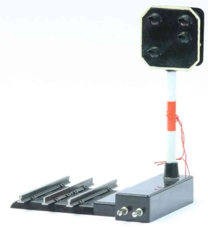 hag 721 railway toy signal advance signal with external control, integrated rail part,