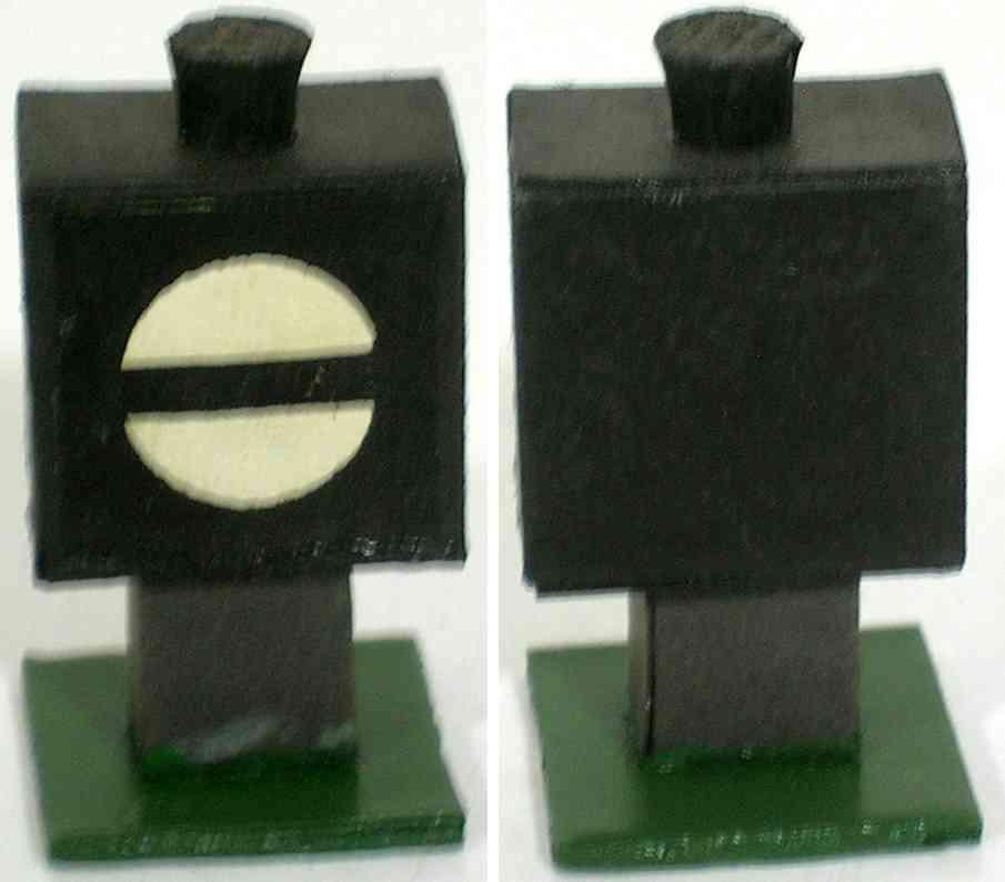 heidt klaus spielzeug eisenbahn signal-laterne holz  pappe sockel