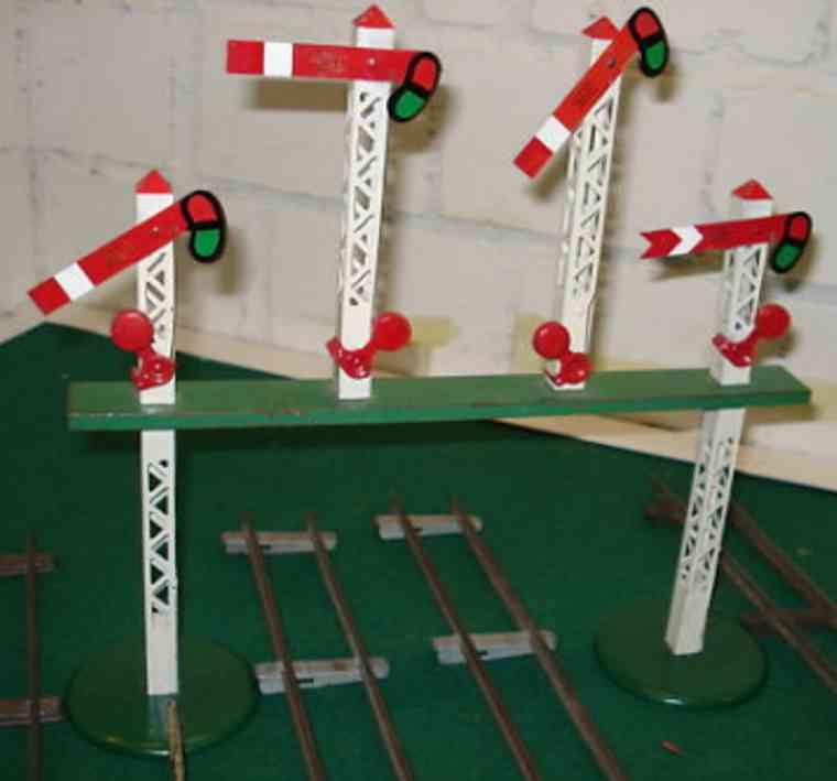 hornby spielzeug eisenbahn signal signalbrücke mit 4 signalen