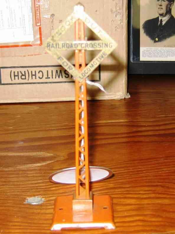ives 086 (1932) spielzeug eisenbahn signal warnsignal