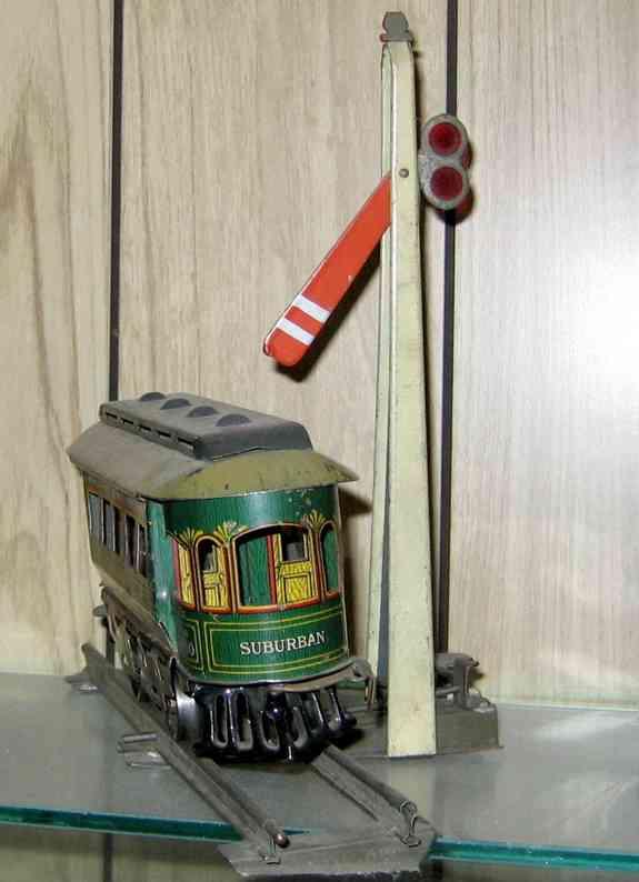 ives 107 spielzeug eisenbahn hauptsignal mit schiene