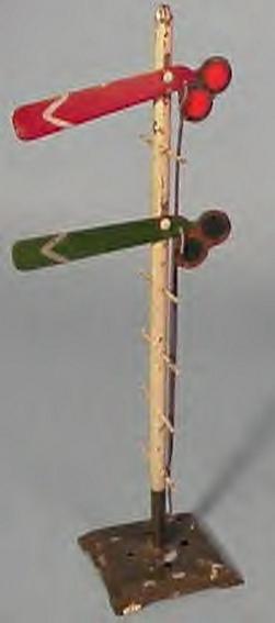ives 107D (1907) spielzeug eisenbahn signal hauptsignal wohl das früheste