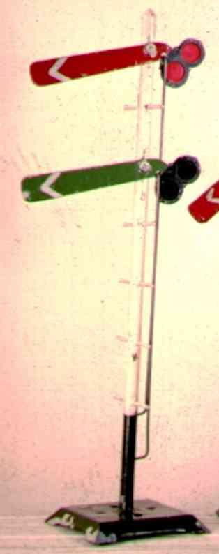 ives 107D (1920) spielzeug eisenbahn signal hauptsignal auf quadratischem sockel