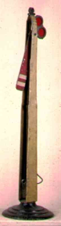 ives 107S (1907) spielzeug eisenbahn signal die ersten hauptsignale haben runde schwere sockel. dies sch