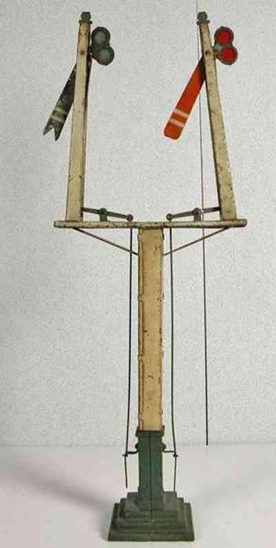 ives 109 1909 eisenbahn signal signal zwei masten