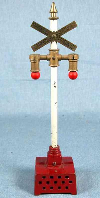 ives 1880 spielzeug eisenbahn signal blinkendes signal, ein modifizierter lionel produkt