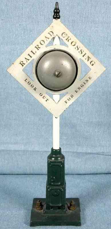 ives 332 spielzeug eisenbahn automatisches warnsignal creme gruen