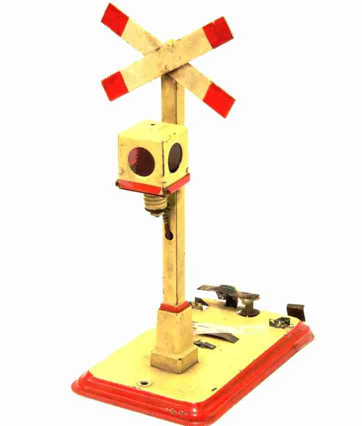 kraus-fandor 2513 railway toy warning cross electric light pull trigger