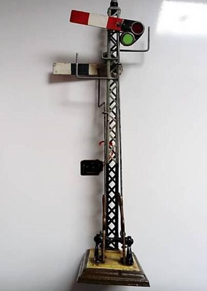 maerklin 2119 spielzeug eisenbahn englisches graues gittermastsignal 2 fluegel