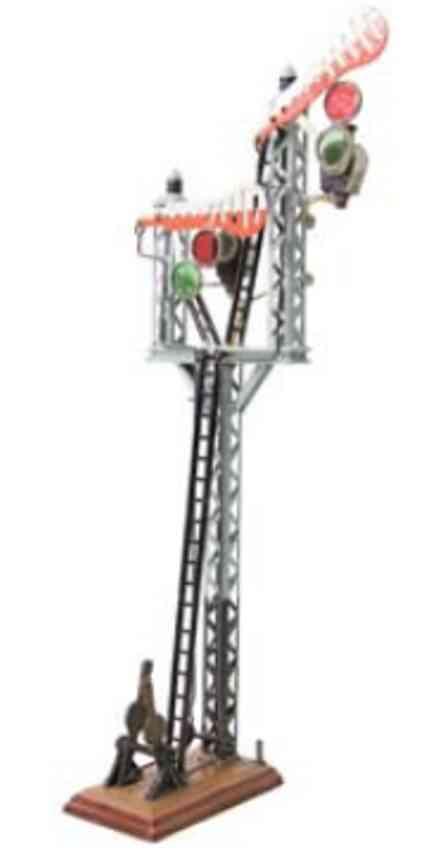 maerklin 2323 eb toys railway signal stand 2 signal leaves electric lighting