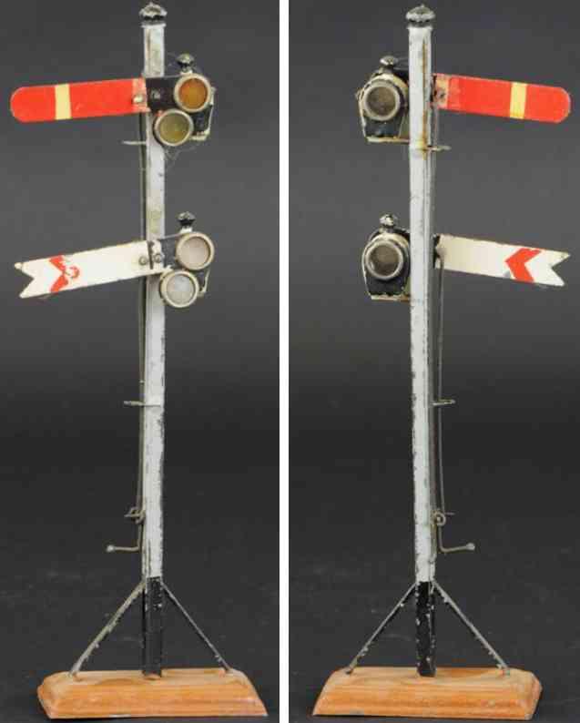 maerklin spielzeug eisenbahn formsignal zwei signale