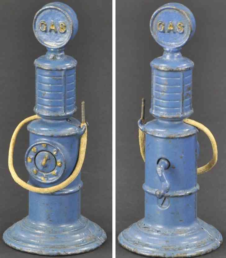 arcade 453 spielzeug benzinpumpe gusseisen blau