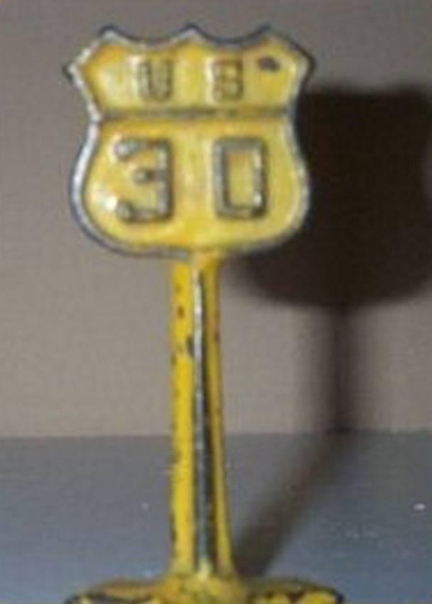 arcade spielzeug gusseisen verkehrsschild stop us 30