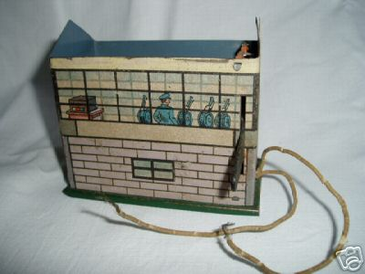 bing tin toy battery house of sheet metal with counter,  on the picture i
